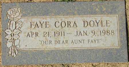 DOYLE, FAYE CORA - Maricopa County, Arizona | FAYE CORA DOYLE - Arizona Gravestone Photos