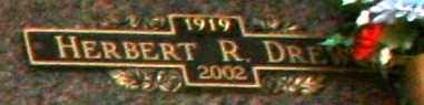 DREWS, HERBERT R - Maricopa County, Arizona | HERBERT R DREWS - Arizona Gravestone Photos