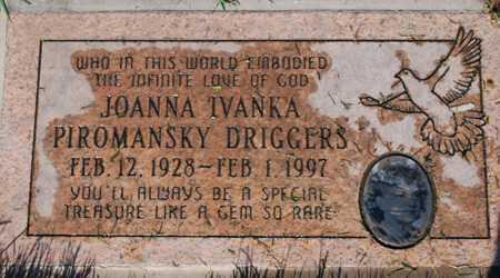 DRIGGERS, JOANNA TVANKA - Maricopa County, Arizona   JOANNA TVANKA DRIGGERS - Arizona Gravestone Photos