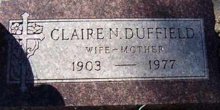 DUFFIELD, CLAIRE N. - Maricopa County, Arizona | CLAIRE N. DUFFIELD - Arizona Gravestone Photos