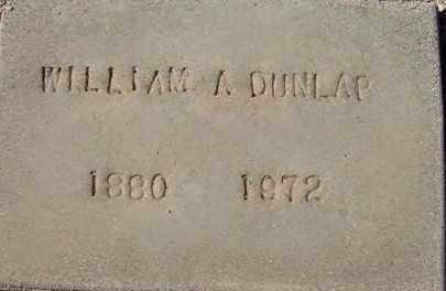 DUNLAP, WILLIAM A. - Maricopa County, Arizona | WILLIAM A. DUNLAP - Arizona Gravestone Photos