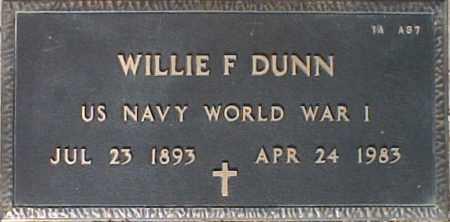 DUNN, WILLIE F. - Maricopa County, Arizona   WILLIE F. DUNN - Arizona Gravestone Photos