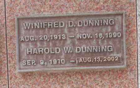 DUNNING, WINIFRED D. - Maricopa County, Arizona | WINIFRED D. DUNNING - Arizona Gravestone Photos