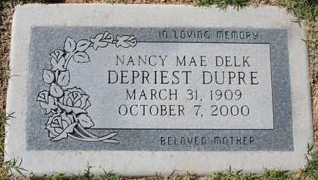 DEPRIEST DUPRE, NANCY MAE DELK - Maricopa County, Arizona   NANCY MAE DELK DEPRIEST DUPRE - Arizona Gravestone Photos