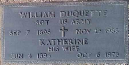 DUQUETTE, KATHERINE - Maricopa County, Arizona   KATHERINE DUQUETTE - Arizona Gravestone Photos