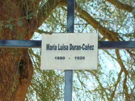 DURAN-CANEZ, MARIA LUISA - Maricopa County, Arizona | MARIA LUISA DURAN-CANEZ - Arizona Gravestone Photos