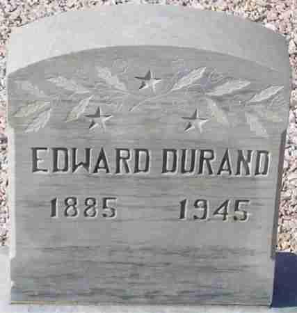 DURAND, EDWARD - Maricopa County, Arizona | EDWARD DURAND - Arizona Gravestone Photos