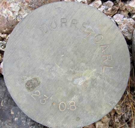 DURRE, CARL - Maricopa County, Arizona   CARL DURRE - Arizona Gravestone Photos