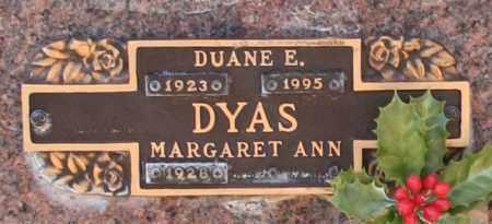 DYAS, MARGARET ANN - Maricopa County, Arizona | MARGARET ANN DYAS - Arizona Gravestone Photos