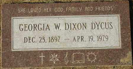 DYCUS, GEORGIA W. DIXON - Maricopa County, Arizona | GEORGIA W. DIXON DYCUS - Arizona Gravestone Photos