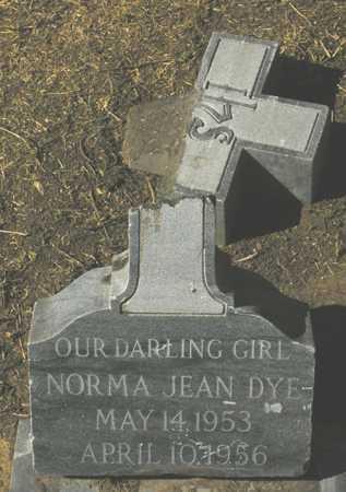 DYE, NORMA JEAN - Maricopa County, Arizona   NORMA JEAN DYE - Arizona Gravestone Photos