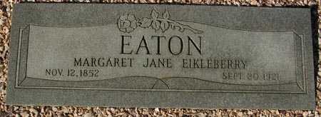 EATON, MARGARET JANE EIKLEBERRY - Maricopa County, Arizona   MARGARET JANE EIKLEBERRY EATON - Arizona Gravestone Photos