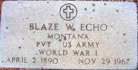 ECHO, BLAZE W. - Maricopa County, Arizona | BLAZE W. ECHO - Arizona Gravestone Photos