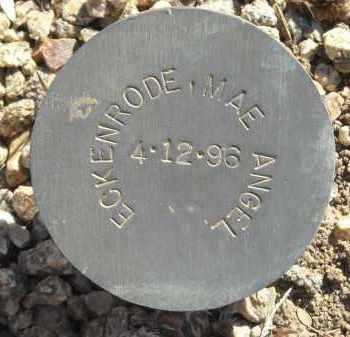 ECKENRODE, MAE ANGEL - Maricopa County, Arizona   MAE ANGEL ECKENRODE - Arizona Gravestone Photos