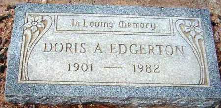EDGERTON, DORIS A. - Maricopa County, Arizona   DORIS A. EDGERTON - Arizona Gravestone Photos