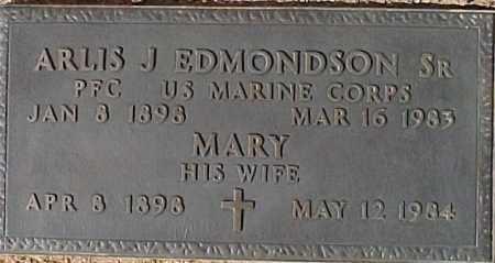 EDMONDSON, MARY - Maricopa County, Arizona | MARY EDMONDSON - Arizona Gravestone Photos