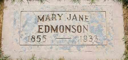 EDMONSON, MARY JANE - Maricopa County, Arizona | MARY JANE EDMONSON - Arizona Gravestone Photos