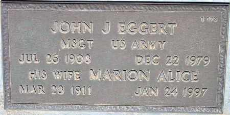 EGGERT, JOHN J. - Maricopa County, Arizona   JOHN J. EGGERT - Arizona Gravestone Photos