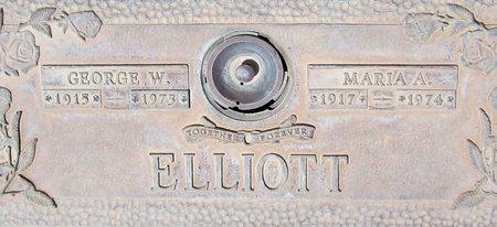 ELLIOTT, MARIA A. - Maricopa County, Arizona   MARIA A. ELLIOTT - Arizona Gravestone Photos