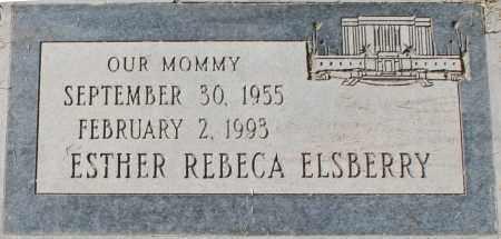 ELSBERRY, ESTHER REBECA - Maricopa County, Arizona | ESTHER REBECA ELSBERRY - Arizona Gravestone Photos