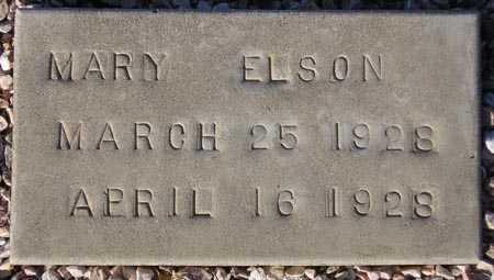 ELSON, MARY - Maricopa County, Arizona | MARY ELSON - Arizona Gravestone Photos