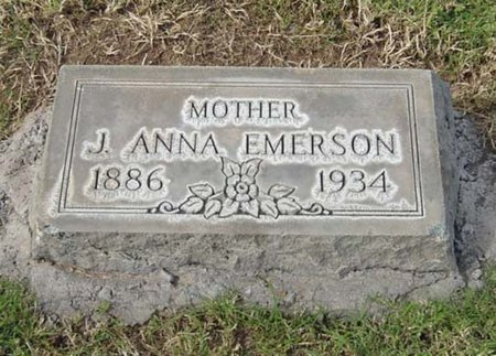 SHAW EMERSON, J. ANNA - Maricopa County, Arizona | J. ANNA SHAW EMERSON - Arizona Gravestone Photos