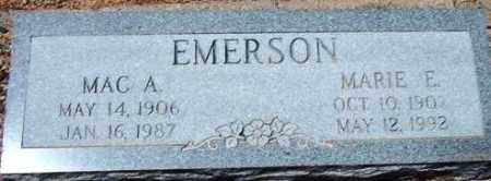 EMERSON, MAC A. - Maricopa County, Arizona | MAC A. EMERSON - Arizona Gravestone Photos