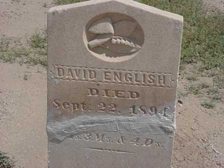 ENGLISH, DAVID - Maricopa County, Arizona | DAVID ENGLISH - Arizona Gravestone Photos