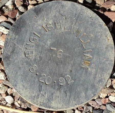 ENGLISH, WILLIAM - Maricopa County, Arizona | WILLIAM ENGLISH - Arizona Gravestone Photos