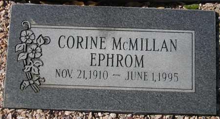 EPHROM, CORINE MCMILLAN - Maricopa County, Arizona   CORINE MCMILLAN EPHROM - Arizona Gravestone Photos