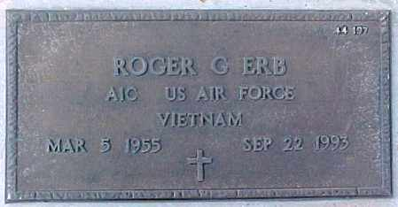 ERB, ROGER G. - Maricopa County, Arizona   ROGER G. ERB - Arizona Gravestone Photos
