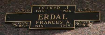 ERDAL, FRANCES A - Maricopa County, Arizona | FRANCES A ERDAL - Arizona Gravestone Photos