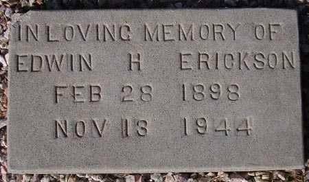 ERICKSON, EDWIN H. - Maricopa County, Arizona | EDWIN H. ERICKSON - Arizona Gravestone Photos