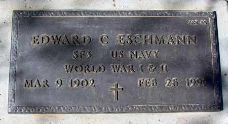 ESCHMANN, EDWARD C. - Maricopa County, Arizona | EDWARD C. ESCHMANN - Arizona Gravestone Photos