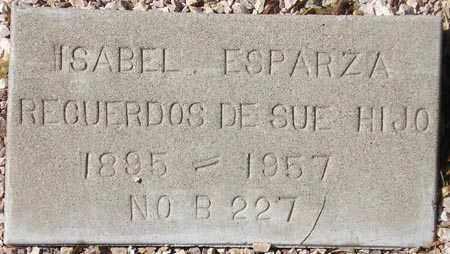 ESPARZA, ISABEL - Maricopa County, Arizona   ISABEL ESPARZA - Arizona Gravestone Photos
