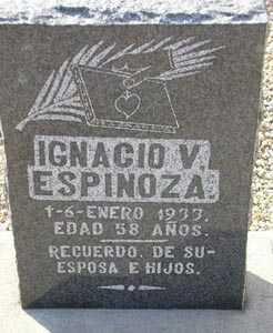 ESPINOZA, IGNACIO V. - Maricopa County, Arizona | IGNACIO V. ESPINOZA - Arizona Gravestone Photos