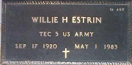 ESTRIN, WILLIE H. - Maricopa County, Arizona | WILLIE H. ESTRIN - Arizona Gravestone Photos
