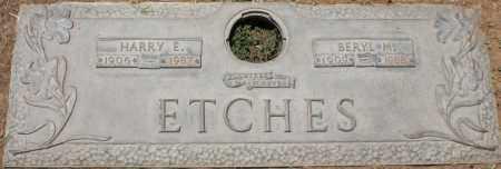 ETCHES, HARRY E. - Maricopa County, Arizona | HARRY E. ETCHES - Arizona Gravestone Photos