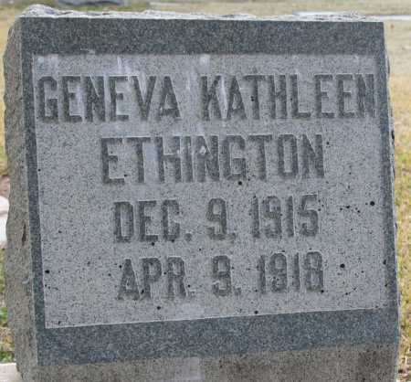 ETHINGTON, GENEVA KATHLEEN - Maricopa County, Arizona | GENEVA KATHLEEN ETHINGTON - Arizona Gravestone Photos