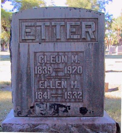 ETTER, CLEON M. - Maricopa County, Arizona | CLEON M. ETTER - Arizona Gravestone Photos