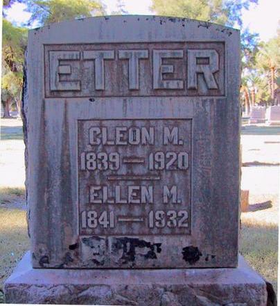 ETTER, ELLEN M. - Maricopa County, Arizona | ELLEN M. ETTER - Arizona Gravestone Photos