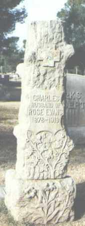 EVANS, CHARLES - Maricopa County, Arizona | CHARLES EVANS - Arizona Gravestone Photos