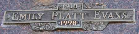 PLATT EVANS, EMILY - Maricopa County, Arizona | EMILY PLATT EVANS - Arizona Gravestone Photos