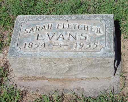 EVANS, SARAH FLETCHER - Maricopa County, Arizona | SARAH FLETCHER EVANS - Arizona Gravestone Photos