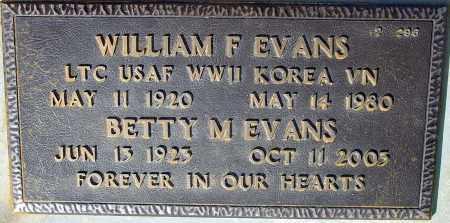 EVANS, WILLIAM F. - Maricopa County, Arizona | WILLIAM F. EVANS - Arizona Gravestone Photos