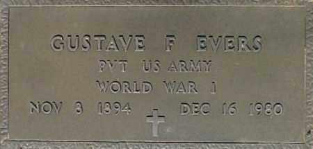 EVERS, GUSTAVE F - Maricopa County, Arizona   GUSTAVE F EVERS - Arizona Gravestone Photos