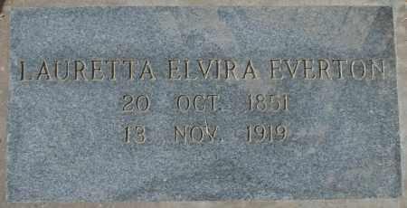 EVERTON, LAURETTA ELVIRA - Maricopa County, Arizona | LAURETTA ELVIRA EVERTON - Arizona Gravestone Photos