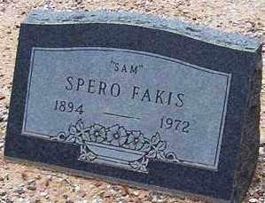 FAKIS, SPERO (SAM) - Maricopa County, Arizona   SPERO (SAM) FAKIS - Arizona Gravestone Photos