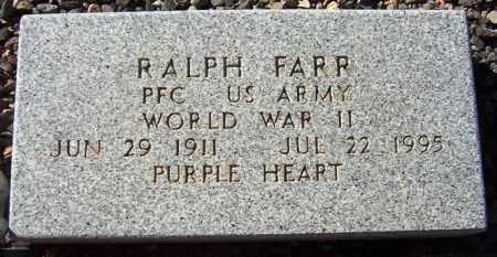 FARR, RALPH - Maricopa County, Arizona | RALPH FARR - Arizona Gravestone Photos