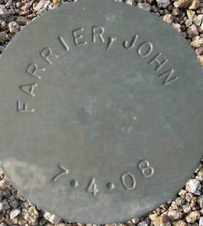 FARRIER, JOHN - Maricopa County, Arizona | JOHN FARRIER - Arizona Gravestone Photos